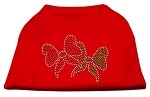 Christmas Bows Rhinestone Shirt Red XS (8)